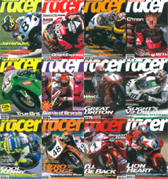 Click here for Motorcycle Racer Back Issues