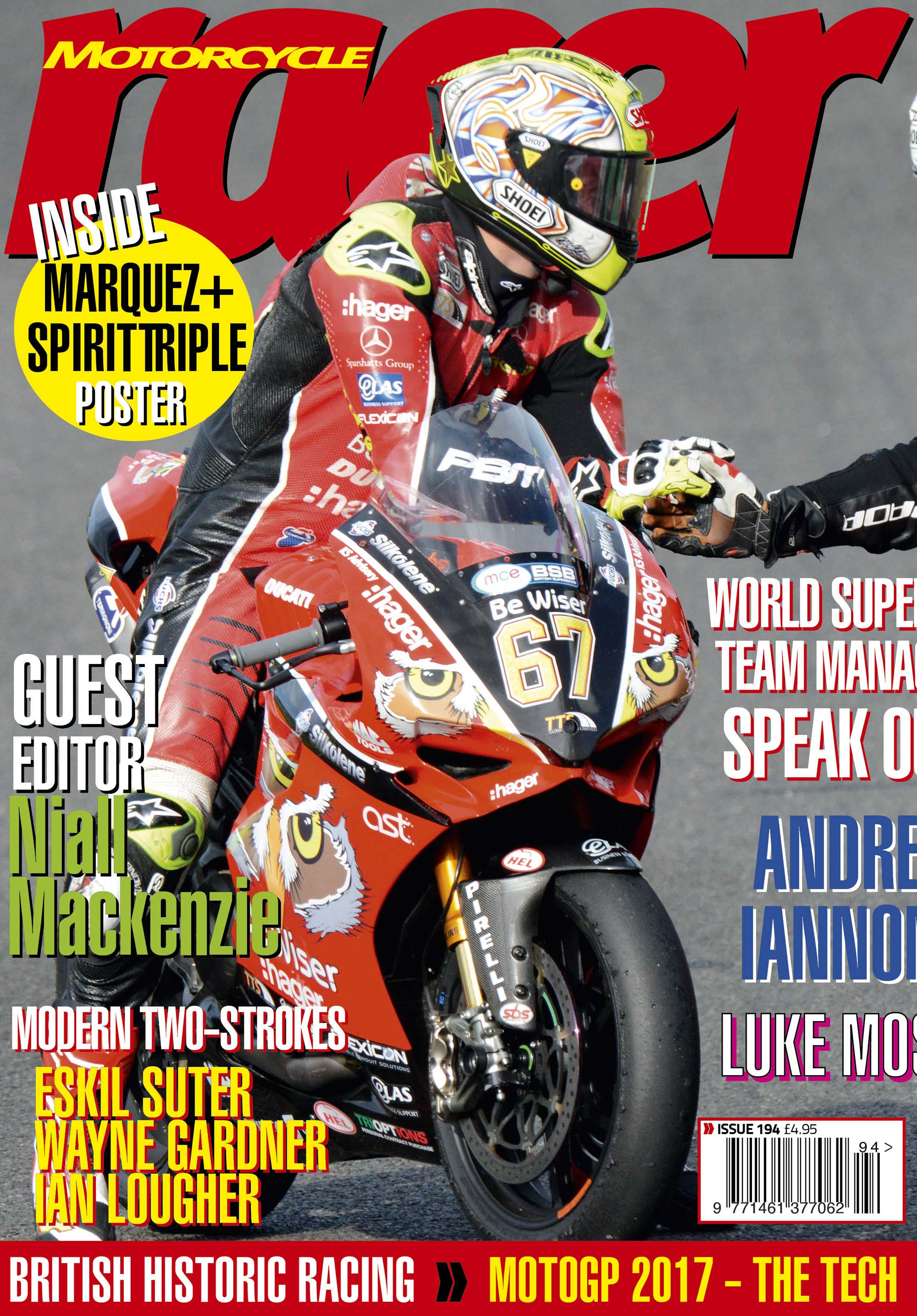 motorcycle racer magazine racing issue